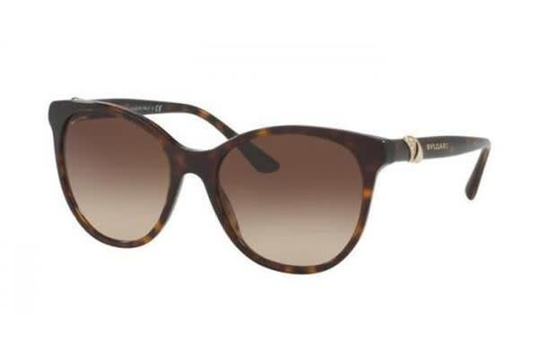 Bvlgari BV8175B 55mm - Dark Havana (Brown Shaded lens) Womens Sunglasses