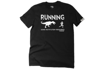 Personal Best Running Tee - Some Motivation Required - (3X-Large Black Mens T Shirt)