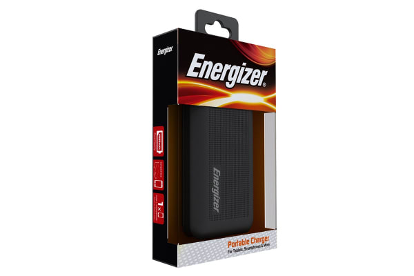 Energizer Hard Cover 10000mAh Power Bank - White (UE10005_WH)