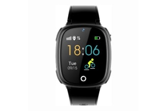 HW11 Children Family Pedometer Smart Watch-Black