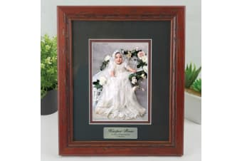 Christening Photo Frame 5x7 Wooden with Black Surround