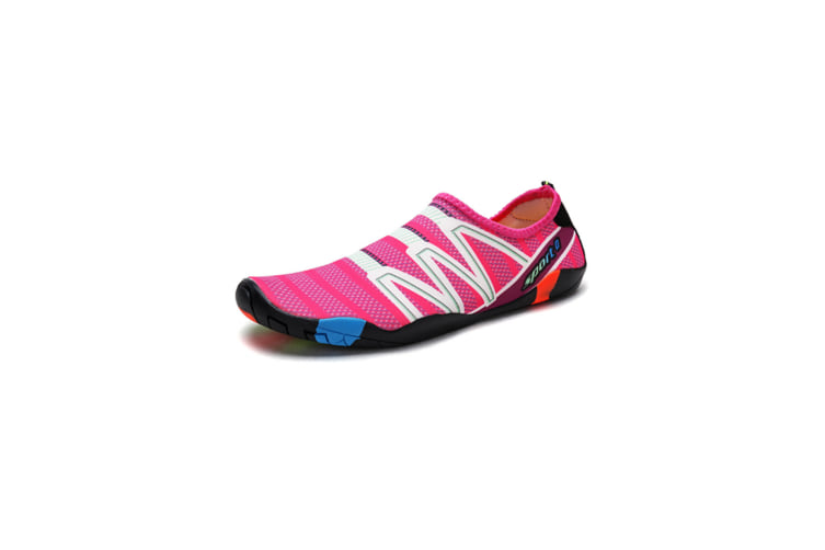Beach Snorkeling Shoes Diving Lovers Wading Shoes Swimming Shoes 186 Rose Red 43