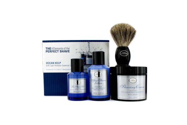 The Art Of Shaving The 4 Elements Of The Perfect Shave - Ocean Kelp (Pre Shave Gel+ Shave Crm+ A/S Lotion+ Brush) (4pcs)