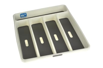 Madesmart 5 Compartment Cutlery Tray White