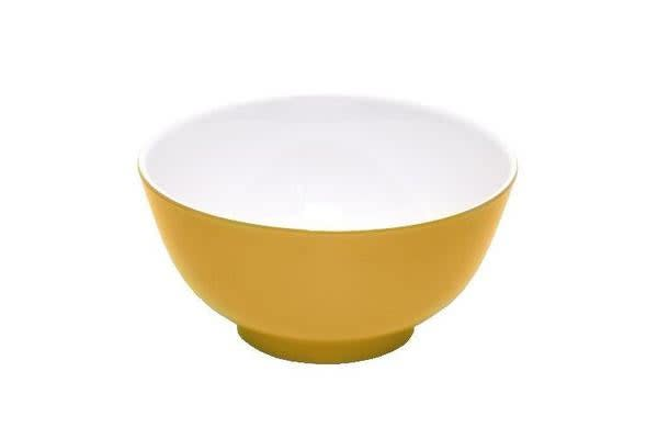 JAB Design Melamine Round Bowl Yellow