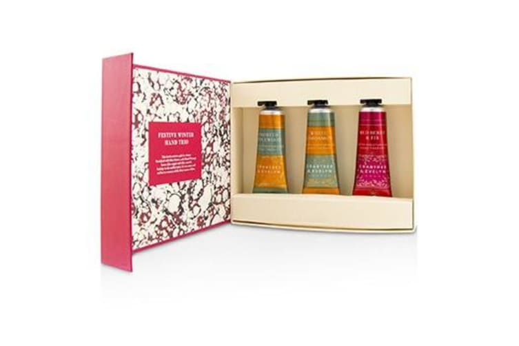 Crabtree & Evelyn Festive Winter Hand Trio (1x Frosted Spicewood  1x White Cardamom  1x Red Berry & Fir) 3x25ml/0.86oz