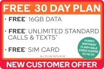 FREE Kogan Mobile Prepaid Voucher Code: EXTRA LARGE (30 Days | 16GB)
