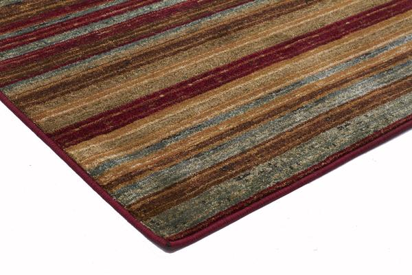 Rustic Stripe Stripped Rug Red 230x160cm