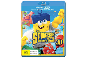 The SpongeBob Movie Sponge Out of Water 3D Edition with 2D Edition Digital Download Blu-ray
