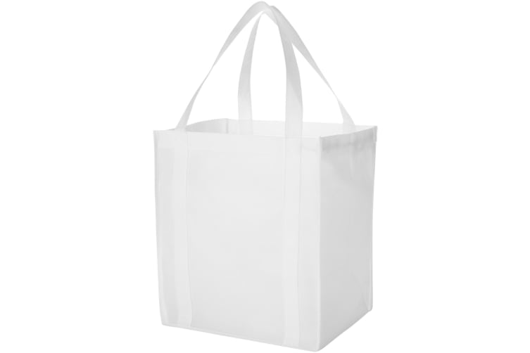 Bullet Liberty Non Woven Grocery Tote (White) (33 x 25.4 x 36.8 cm)