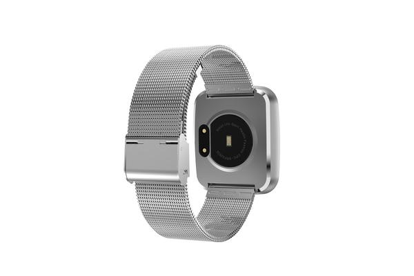 TODO Bluetooth V4.0 Smart Watch Ip67 Heart Rate Blood Pressure 0.96 Oled - Silver Metal