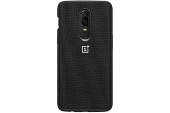 OnePlus 6 Nylon Bumper Case (Black)