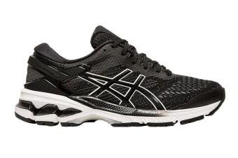 ASICS Women's Gel-Kayano 26 Running Shoe (Black/White, Size  10.5 US)