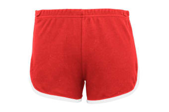 American Apparel Womens/Ladies Cotton Casual/Sports Shorts (Red / White) (XS)
