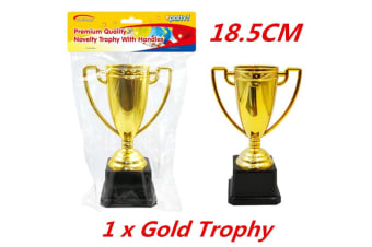 1 x Award Gold Trophy Trophies with Handles Inspired Ceremonies Party Favor VIP 18cm