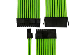 GGPC Gaming Cable 20+4 Pin ATX Motherboard Power Extension Cable (24Pin, Green)(40cm)