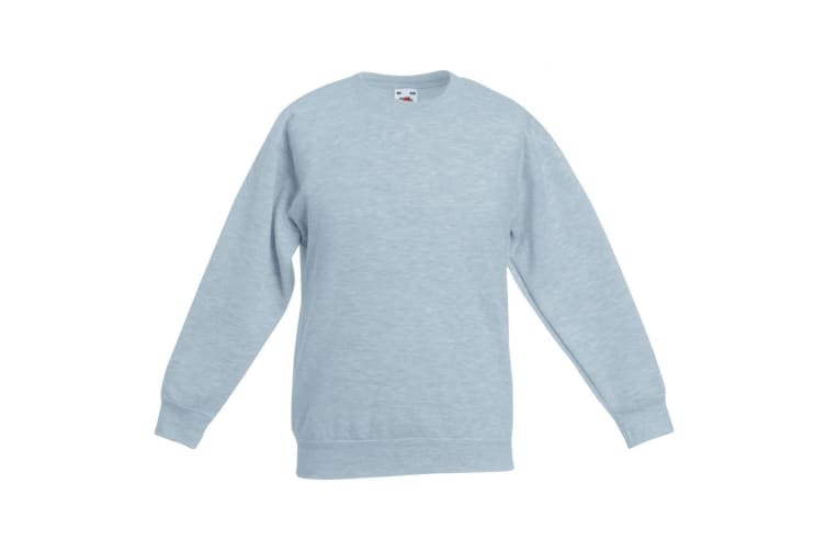 Fruit Of The Loom Kids Unisex Premium 70/30 Sweatshirt (Pack of 2) (Heather Grey) (3-4 Years)
