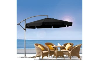 Wallaroo 3m Cantilever Market Umbrella - Black