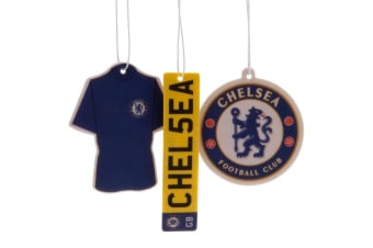 Chelsea FC Air Fresheners (Pack Of 3) (Blue) (One Size)