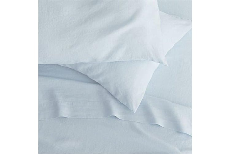 Belledorm 200 Thread Count Cotton Percale Extra Deep Fitted Sheet (Pale Blue) (Superking)