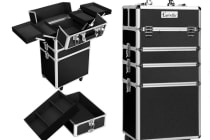 7 in 1 Portable Beauty Make up Cosmetic Trolley Case (Black)