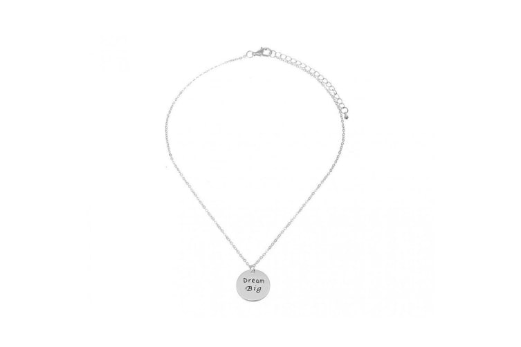 Intrigue Womens/Ladies Dream Big Engraved Pendant (Silver) (One Size)