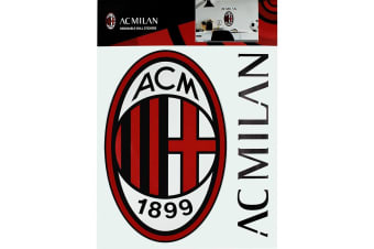 AC Milan A4 Wall Stickers (Set of 2) (Red/Black)