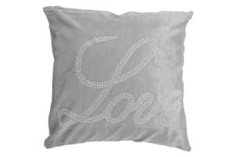 Panache Love Sparkle Design Cushion Cover (Cushion Pad Not Included) (Silver)