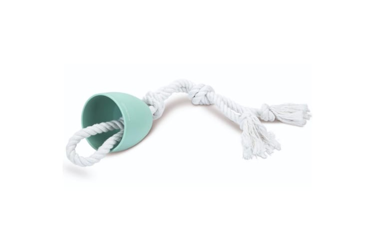Beeztees Puppy Cotton T-puller Toy (Green) (One Size)