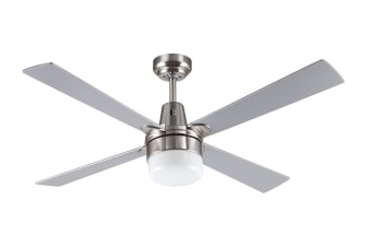 Mercator Kimberley II 1200mm Ceiling Fan with Light - Brushed Chrome (FC132124BC)