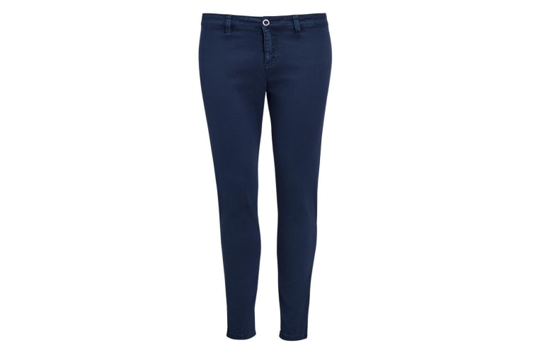 SOLS Womens/Ladies Jules Chino Trousers (French Navy) (10)