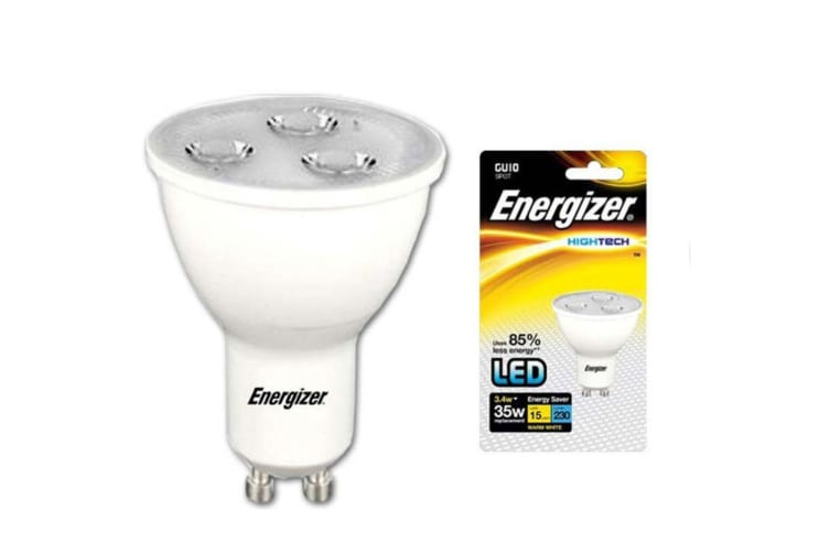6x Energizer LED GU10 3.4w 220V Warm White Downlight Spot Light Bulb Lamp Bulb