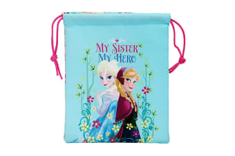 Frozen Childrens/Girls Official My Sister My Hero Drawstring Lunch Bag (Multicoloured) (One Size)