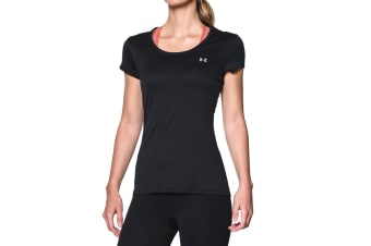 Under Armour Women's UA Flyweight T-Shirt (Black/Steel, Size S)