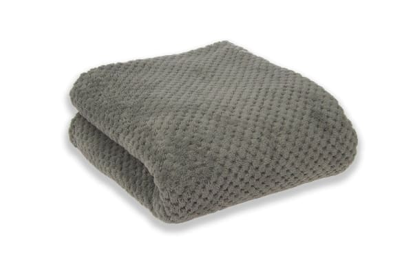 Apartmento Diamond Fleece Blanket Grey (Single)