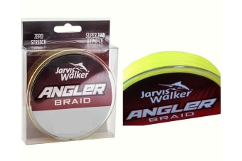 150yd Spool of 20lb Jarvis Walker Angler Braid - Chartreuse Fishing Braid