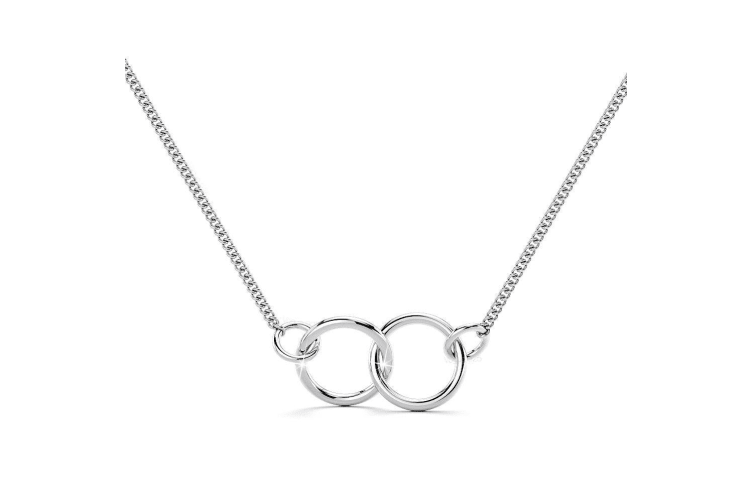 .925 Twin Loop Interlocked Necklace-Silver