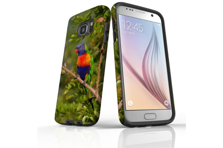 For Samsung Galaxy S7 Case  Protective Back Cover  Rainbow Lorikeet
