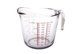 Kitchen Classics Glass Measure Jug 4 Cup/1 Ltr Meauring Jug Cup Tool