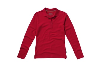 Slazenger Womens/Ladies Point Long Sleeve Polo Shirt (Red)