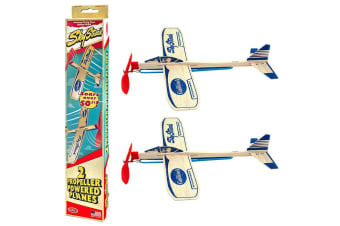 2pc Guillow's Jetfire Sky Streak Propeller Powered Planes Kids Airplane Toys 8y+