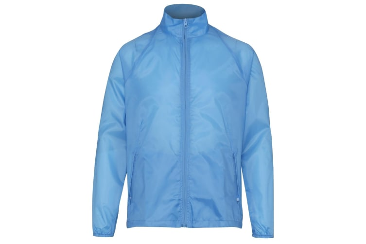 2786 Unisex Lightweight Plain Wind & Shower Resistant Jacket (Sky) (S)