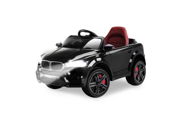Rovo Kids Ride On Car Bmw X5 Inspired Electric Toy Battery Remote 12v Black