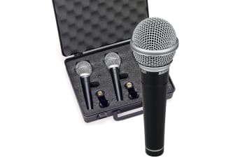 Samson R21S 3PK Dynamic Microphone Set w/Clip/Case For Gig/Live/Studio Recording