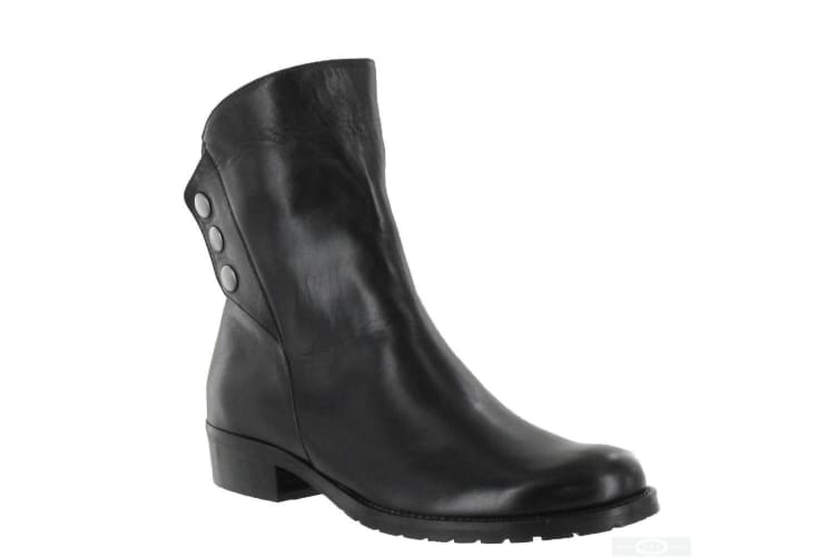 Riva Womens/Ladies Buttons Leather Ankle Boots (Black) (6 UK)