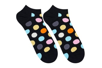 Happy Socks Big Dot Low Sock (Black, Size 41-46)
