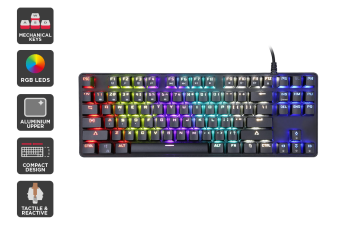 Kogan TKL Rainbow RGB Mechanical Keyboard (Brown Switch)