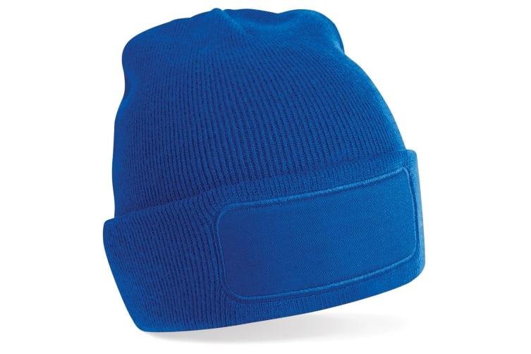 Beechfield Unisex Plain Winter Beanie Hat / Headwear (Ideal for Printing) (Bright Royal) (One Size)