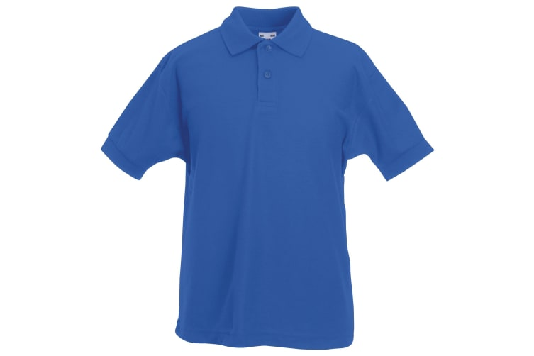Fruit Of The Loom Childrens/Kids Unisex 65/35 Pique Polo Shirt (Royal) (7-8)