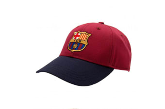 FC Barcelona Crest Cap (Burgundy/Navy) (One Size)